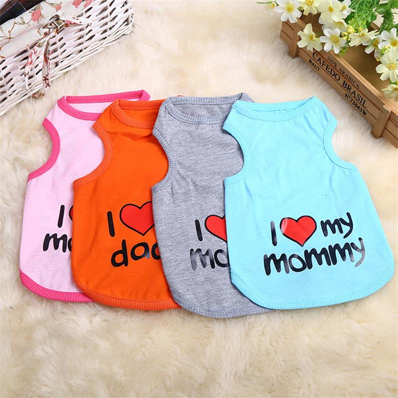 2017 Cute Pet Dog Clothes Spring T-shirt Soft Dogs Clothes Pet Cat Clothing Summer Cotton Shirt Casual Coats For Small Pets
