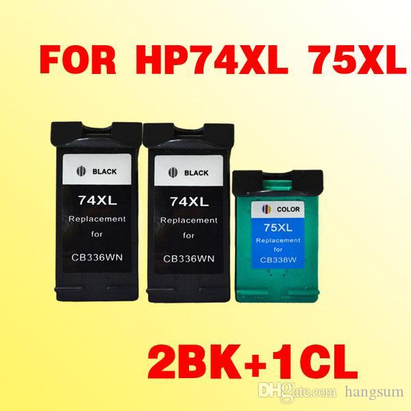 3 cartouches d'encre pour HP74 pour HP75 74xl 75xl PhotoSmart C4280 / C4385 / C5240 / C5250