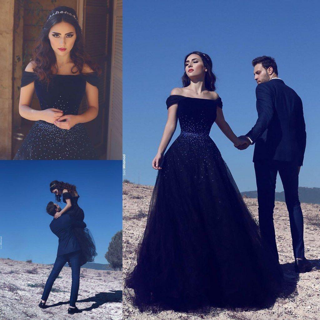 Discount Navy Blue Wedding Dresses 2019