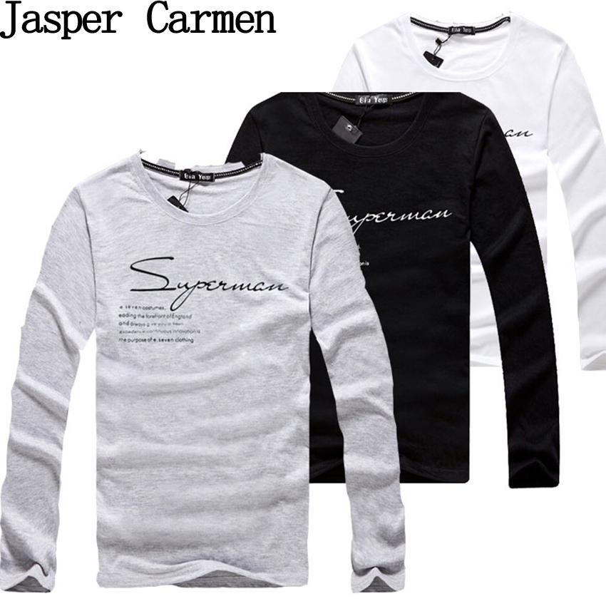 Wholesale- Vendita calda di trasporto libero 2017 nuovo winterspring mens lunghe magliette casual manica lunga t-shirt di alta qualità big size 4XL18
