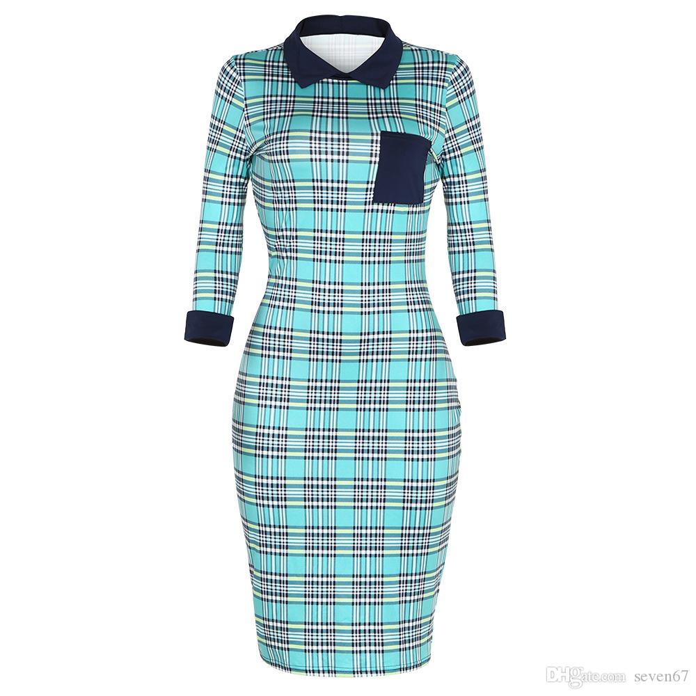 2018 New Women Summer Dress Hot Sales Ladies Party Dress 3/4 Sleeve ...