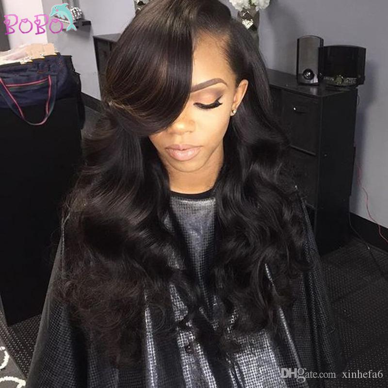Thick Body Loose Wave Unprocessed Virgin Human Hair Full Lace Wigs Brazilian Hair Lace Front Wig For Black Women Full Hair