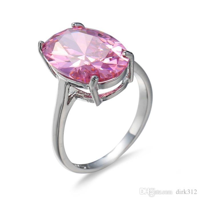 Big Single Stone 3 Gram Gold Ring Designs Pink Diamond Wedding ...