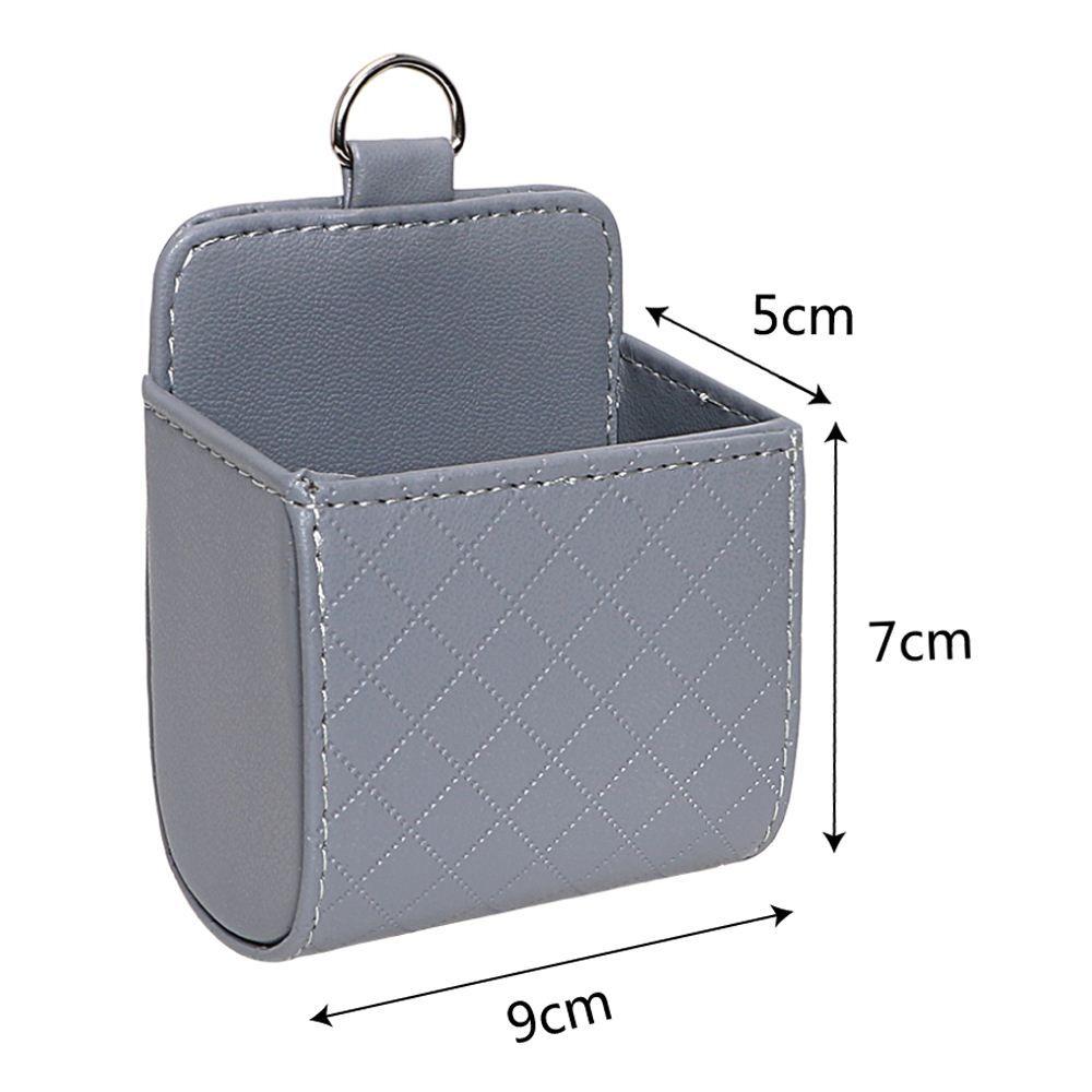 Universal Car-Styling-Tasche Outlet Vent Ordentlich Lagerung Aufbewahrungstasche PU-Leder Auto Organizer Schwarz