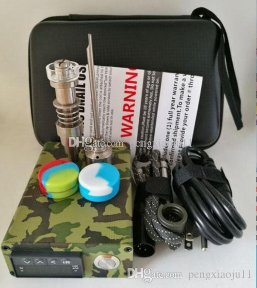 Il più nuovo termosaldatore elettrico Kit completo di termoregolatore con tappo in carburo di titanio D Kit NAIL per bong in vetro Tubo dell'acqua