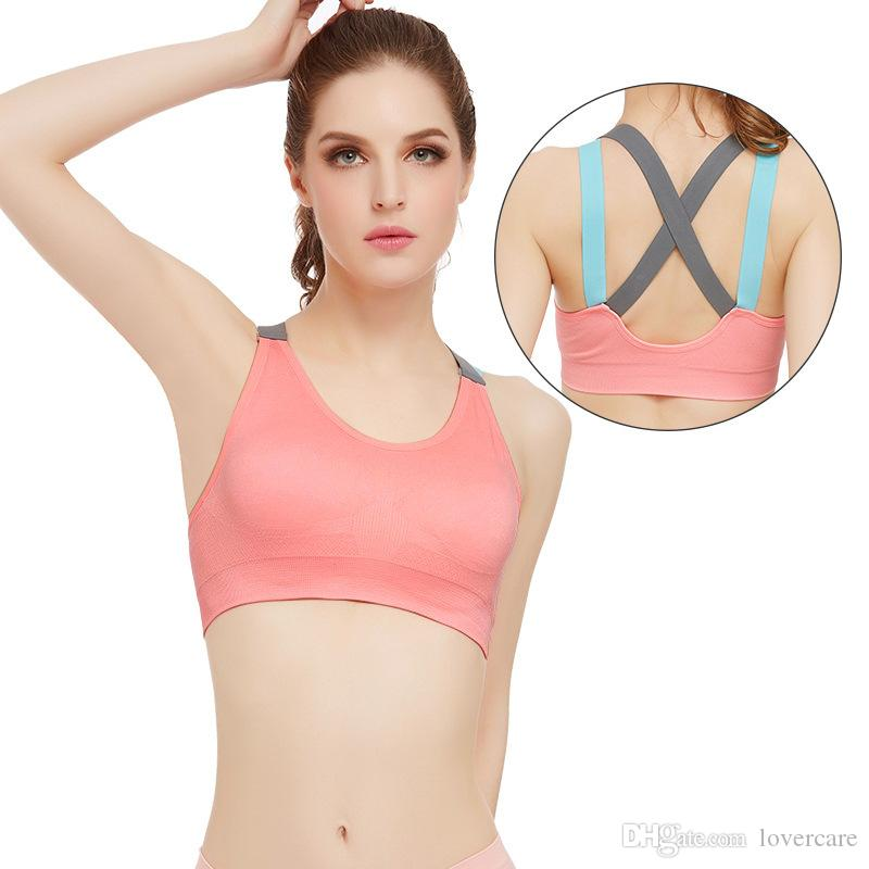 Cross the United States back strap without steel ring sports underwear quick running yoga fitness shock sports bra