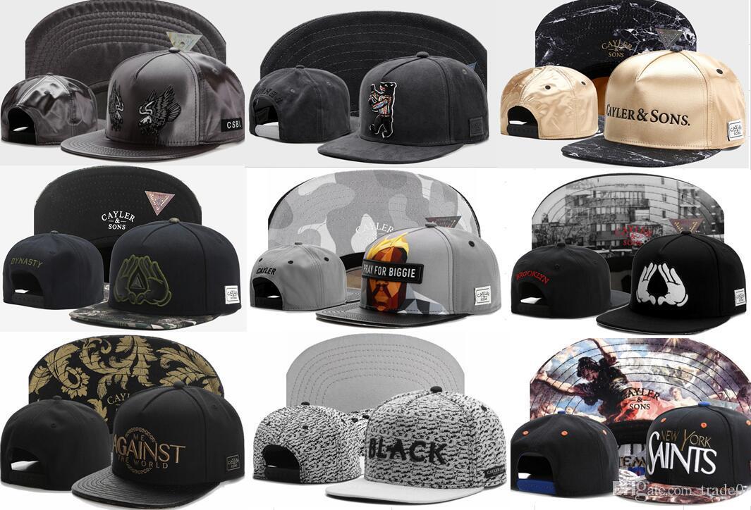 CS Snapback Cayler Snapbacks Sons Marka Moda Spor Casquette Gorras erkekler kadınlar için şapka Caps beyzbol şapkaları Ayarlanabilir Hat Caps