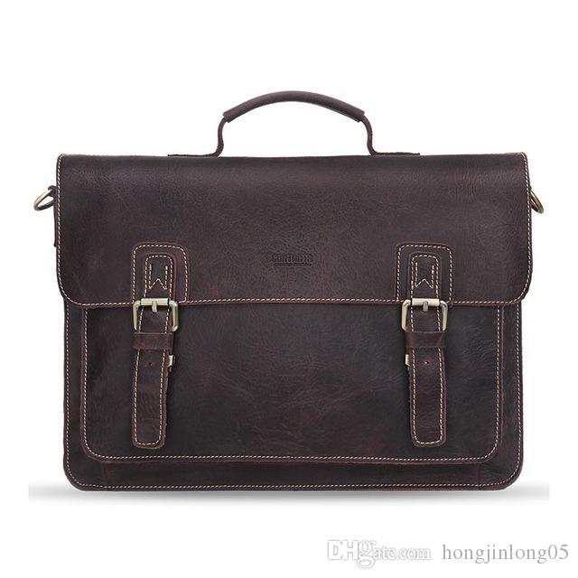 2017 новый Crossbody сумки мужчины натуральная кожа старинные пряжки обложка дизайнер 14 дюймов большие сумки посыльного для мужчин MB058