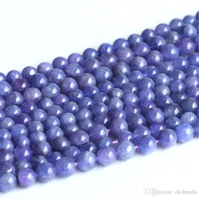 perles semi-précieuses 12 Tanzanites