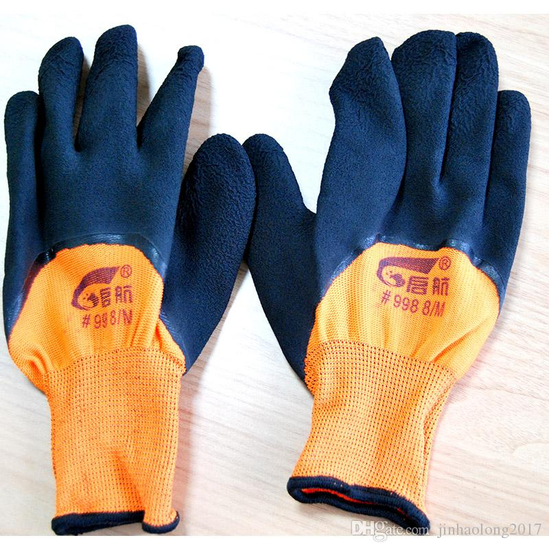 2019 Colourful Gloves Rubber Garden Mittens Waterproof Latex Insulated  Rubber Grade Work Gloves Hands Safety Workplace Safety Supplies From