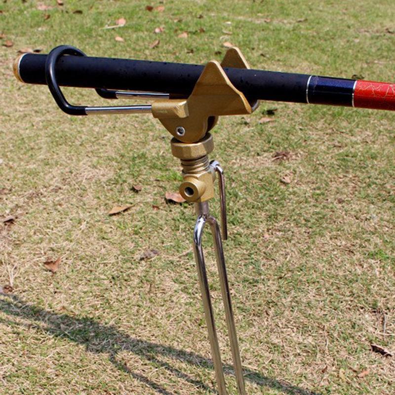 360 graus de Rotação Mão Telescópica Vara De Pesca Titular Suporte Do Suporte Pólo Giratória Rack 100% Caixa De Equipamento De Pesca De Metal Peças