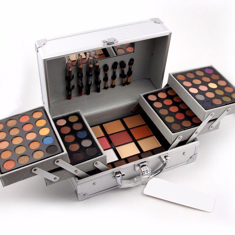 Juego de maquillaje de alta calidad Miss Rose Estuche de cosméticos profesional Kit de maquillaje Sombra de ojos Blush Mirror Corrector Estuche Maletas