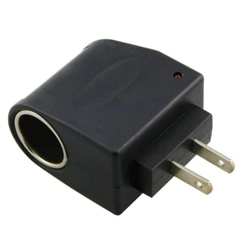 Metal 110V-240V 50-60Hz AC /à 12V DC EU Adaptateur dalimentation pour voiture Adaptateur Convertisseur Allume-cigare Universal Plastic couleur: noir