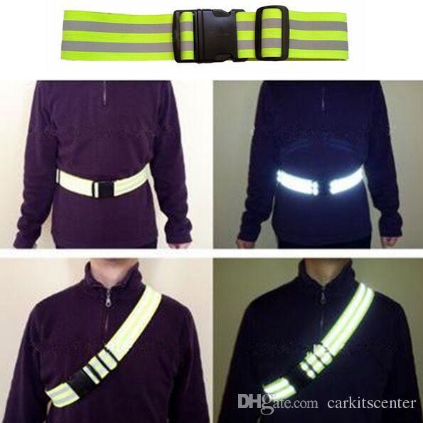 Unisex Sicherheit Hohe Sichtbarkeit Verstellbarer Reflektionsgürtel Outdoor Nachtlauf Radfahren Wandern Safty Elastischer Warngurt
