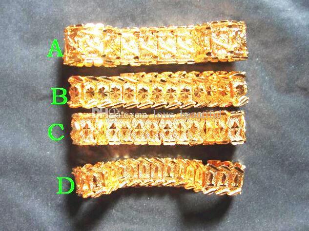 """4 stil Wählen Sie neue MEN 24 Karat GELB GOLD GEP SOLID FILL GP ARMBAND Mode Männer Gold Armband 8 """""""