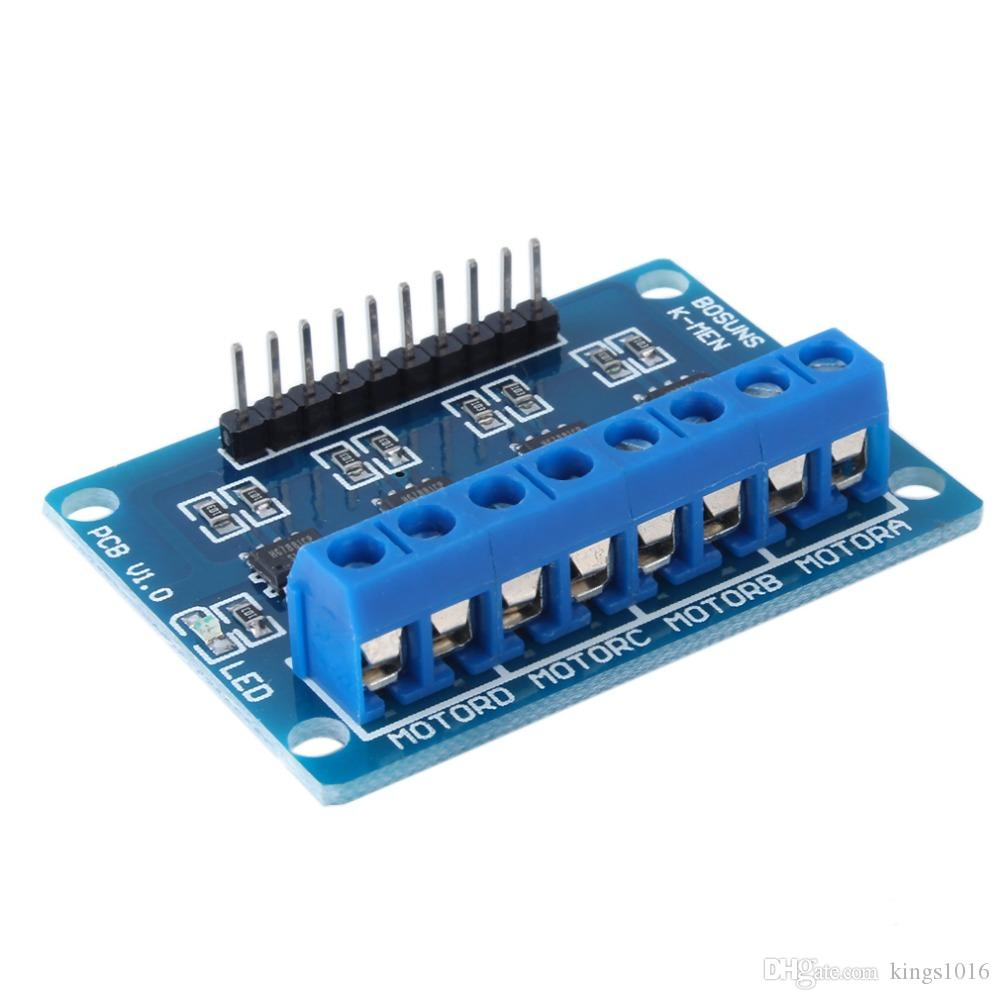 New Arrived HG7881 4-Channel DC Stepper Motor Driver Controller Board for Arduino NEW High Quality