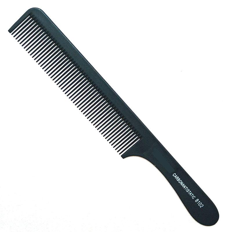 Wholesale- Hairdressing Hair Stylist Salon Carbon Comb Fiber Ultrathin Flat Head Comb Antistatic Cutting Comb Brushes Hair Care