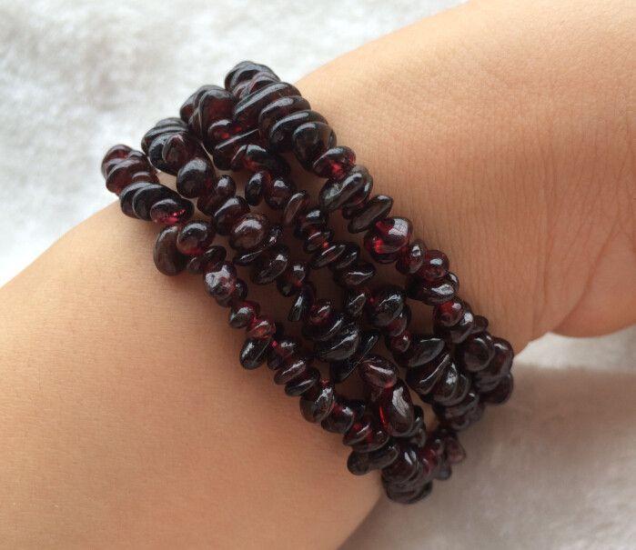 Оптовая продажа природных полудрагоценных камней Кристалл гранат гравий с формой ожерелье браслеты мода женщины ювелирные изделия