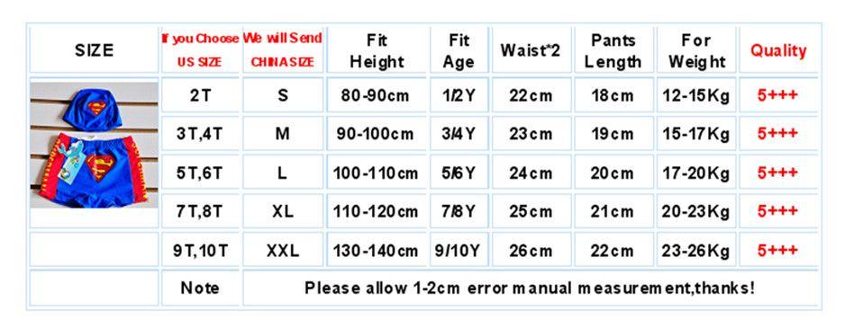 CS05 Children swimwear-size
