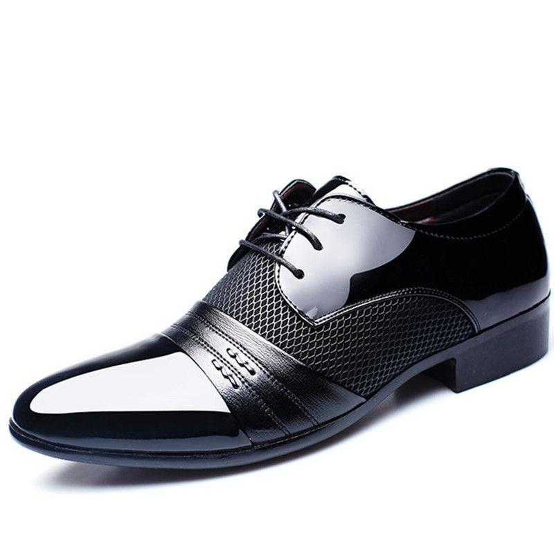Patent deri siyah İtalyan mens ayakkabı markaları için düğün resmi oxford ayakkabı mens sivri burun elbise ayakkabı sapato masculino
