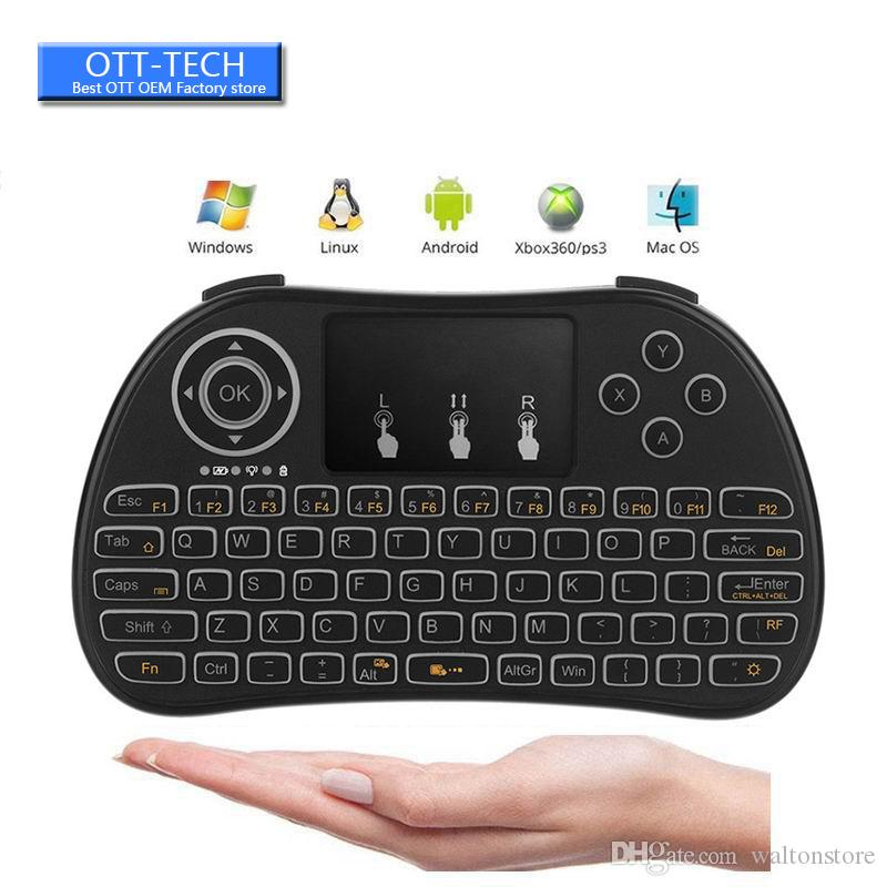 New arrival P9 fly air Mouse 2.4G Mini Wireless Keyboard Remote Controlers with touchpad for PC Notebook Android TV Box