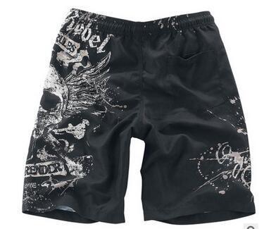 2017 new summer casual beach short pants printed skull head trend mens board shorts Quick-drying Men's Loose Swimwear