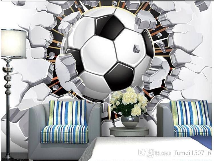 Grosshandel Fussball Fototapete Fussball Wandbild 3d Wallpaper Leidenschaft Fur Die Wm Jungen Kinderzimmer Dekor Schlafzimmer Wohnzimmer Dekoration Sport