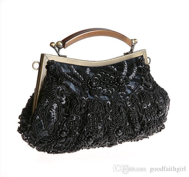 5 pz vendita calda perline ricamo paillettes borsa festa nuziale da sera borsa frizione borsa da goodfaithgirl trasporto libero
