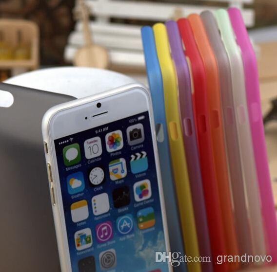 0.3mm Ultra Mince Couleur de Bonbons Mat Dépoli Transparent Clair Cristal Flexible Souple Coque PP Pour iPhone 11 Pro Max XS XR X 8 7 6 6S Plus