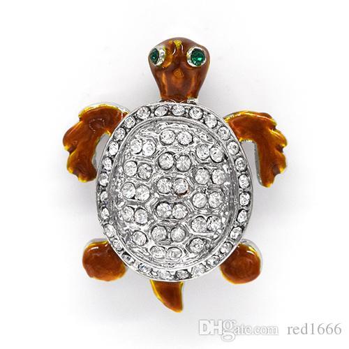 Moda spilla con strass smalto tartarughe spille pin gioielli ciondolo regalo C102537