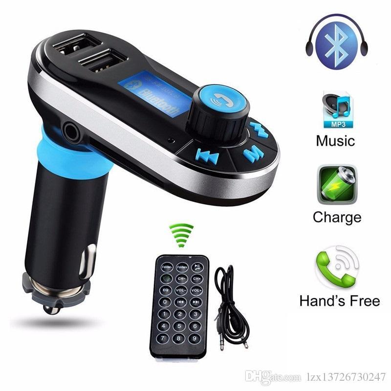 سيارة FM BT66 الارسال بلوتوث خالية اليدين LCD مشغل MP3 راديو محول كيت شاحن الهاتف المحمول الذكية مع حزمة البيع بالتجزئة