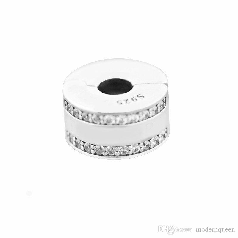 Clip beads charms original 925 silver fits for pandora Jewelry bracelets S925 sterling silver free shipping aleCH621H7