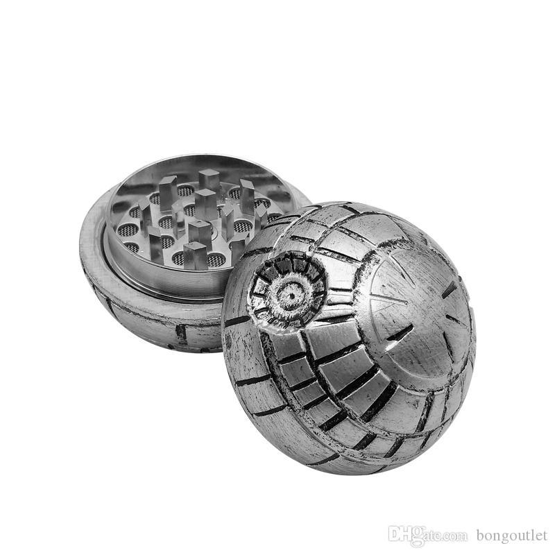 Tabakkrautschleifer Drei Schichten Aluminiumrauchschleifer Metalldia 50mm Hohe Qualität - gravierte benutzerdefinierte Skeleton-Zigarre