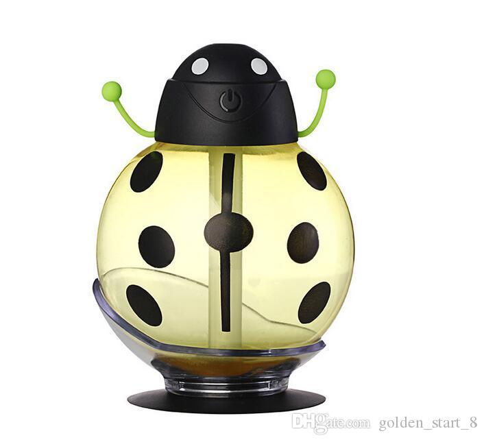 Beetle nemlendirici USB Nemlendirici Aroma difüzör Aromaterapi Uçucu yağ difüzör Mini Taşınabilir Mist Maker 260ml LED Gece