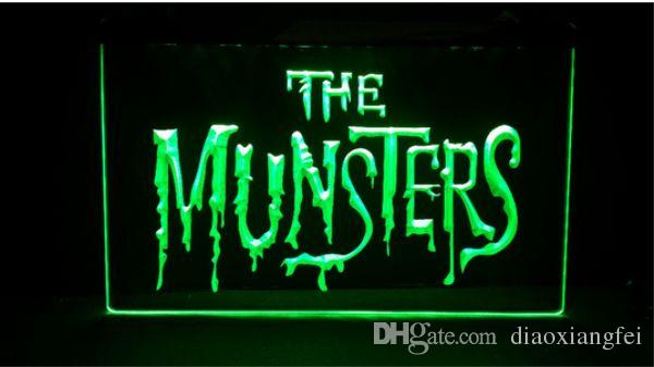 The Munsters Logo beer bar pub club 3d signs led neon light sign home decor crafts