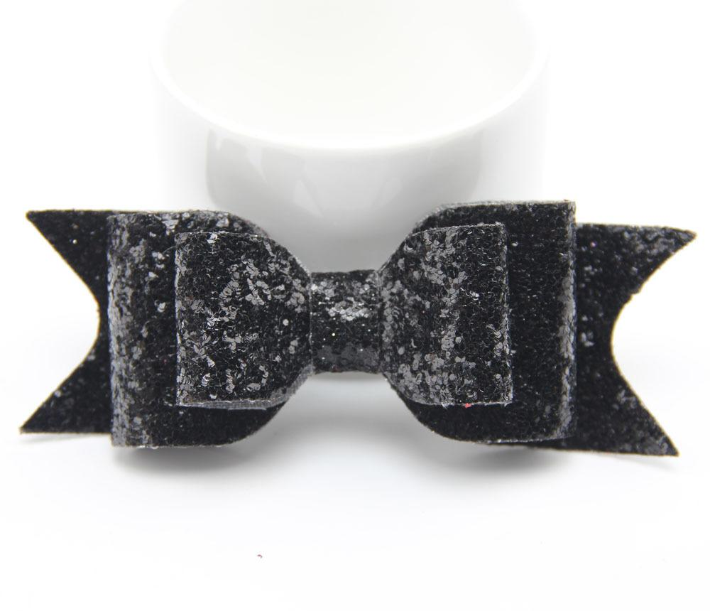 Black bow hair accessories - Oversized Large Gold Glitter Fabric Bow Hair Clip For Girls Adult Baby Hair Accessories Glitter Felt Bows Gold Hair Bow 7pcs Lot