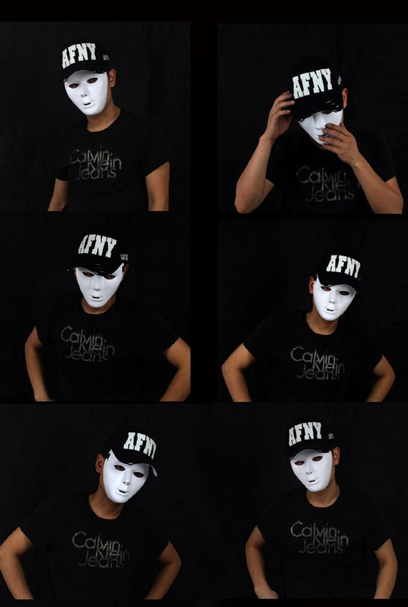 Ghost Dance Masks Mummy Dancers White Plastic Masks Halloween ...