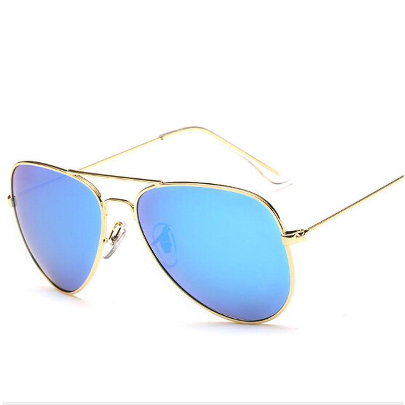 Peekaboo Nouvelle mode hommes lunettes de soleil polarisées métal bleu rose lunettes de soleil réfléchissantes pour femmes marque polarisées lentes de sol