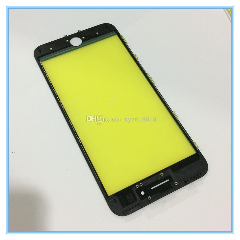 10pcs/lot LCD Touch Screen Panel Outer Glass with Middle Frame Bezel For iPhone 6 6S 6G 7 7 Plus Pre-Assembled Refurbished Parts