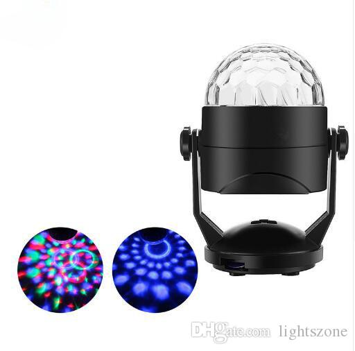USB 5V Auto Rotate stage light Battery Operated Crystal Magic Ball Sound Control birthday wedding effect lights disco dj