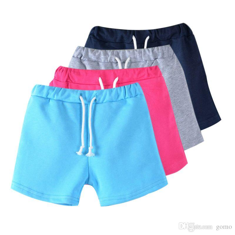 2017 Hot Summer Boys Beach Pants Kids Trousers New Candy Color Girls Shorts