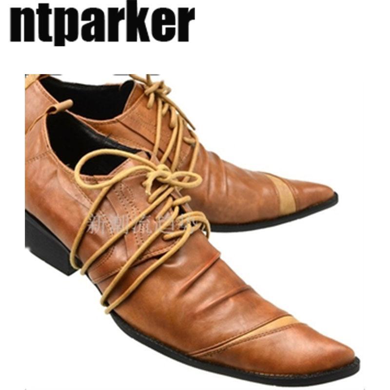 Fashion British Style a punta scarpe da uomo Businessl scarpe da uomo, scarpe business in pelle Vintage zapatos de hombre, US6-12, EU38-46!