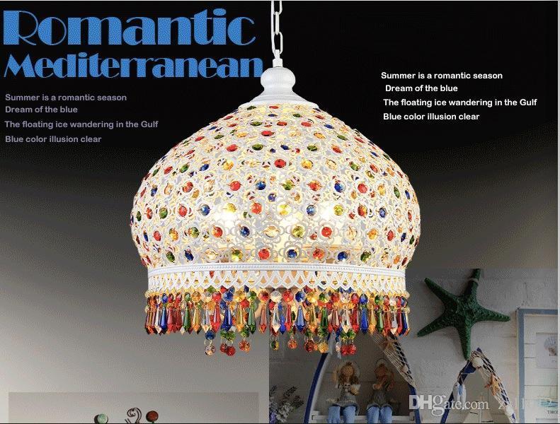 Ücretsiz Kargo Kristal Kolye Işıkları Lambaları Aydınlatma Armatürleri, Bohem Stili Semicircel Demir Tavan Kolye lambaları, AC110-240V