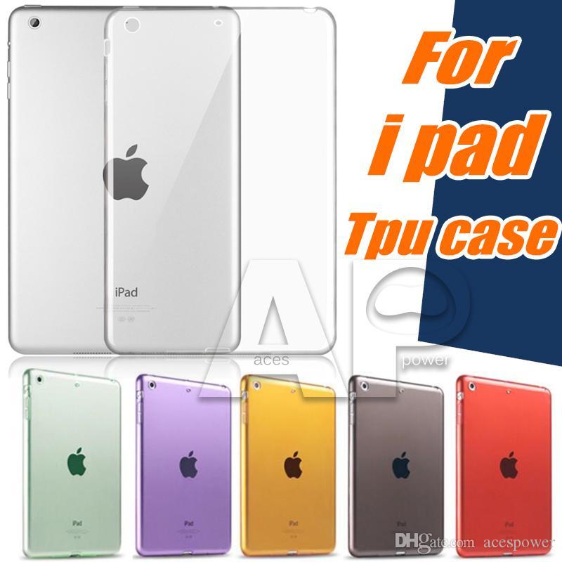 Per iPad Air2 Mini 5/4 iPad Pro 10.2 TPU trasparente trasparente custodia morbida pelle in silicone copertura posteriore sottile per Apple iPad6