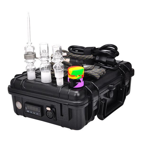 E Quartz Nail kit Electric D Nail Portable dabber rig Titanium Nail for glass water bong BOX12