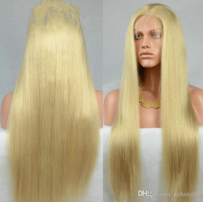 150% Of The Brazilian Hair Density Cary, The Integrity Of The Virgin Human Hair 100% Wigs In Pere Lacing Owl #613 Wig With No Baby Hair Tail