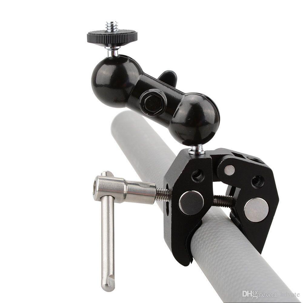 CAMVATE Clamp Ball Head Magic Arm Mount for DJI Ronin Gimbal DSLR Camera LCD Monitor LED