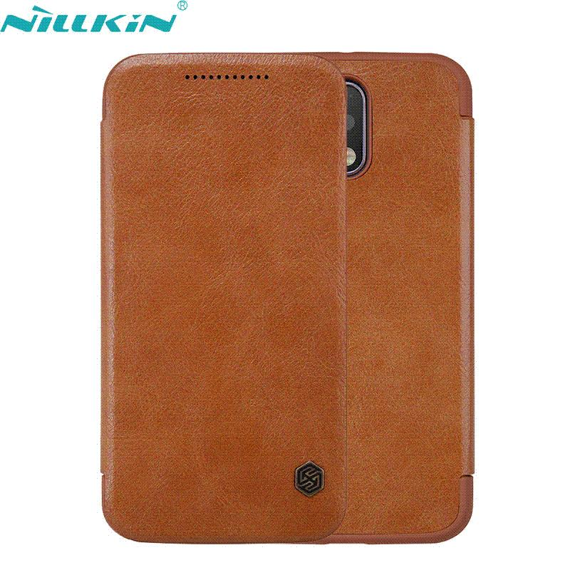For Motorola Moto G4/G4 Plus 5.5'' Case Original Nillkin Luxury Retro Quality Leather Hard PC Back Cover Flip Mobile Phone Cases