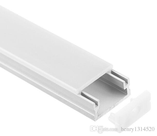 Free Shipping Wholesale 2m/pcs 50m/lot Slim Size Channel Aluminum strips with Cover and End Caps for LED Strips ,LED Bar Light
