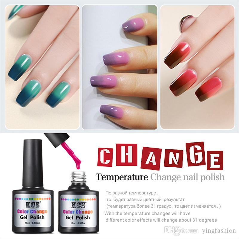 High Quality Kce Color Changing Nail Gel Polish Temperature Change ...